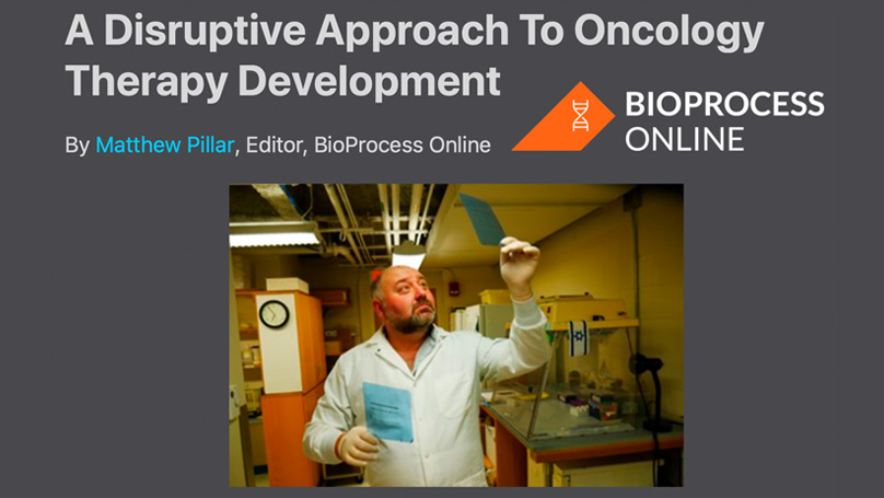 A Disruptive Approach to Oncology Therapy Development